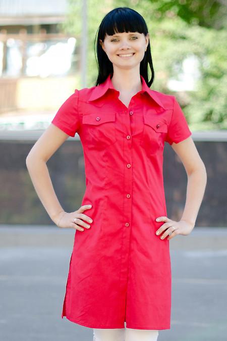 Туника красная Деловая женская одежда
