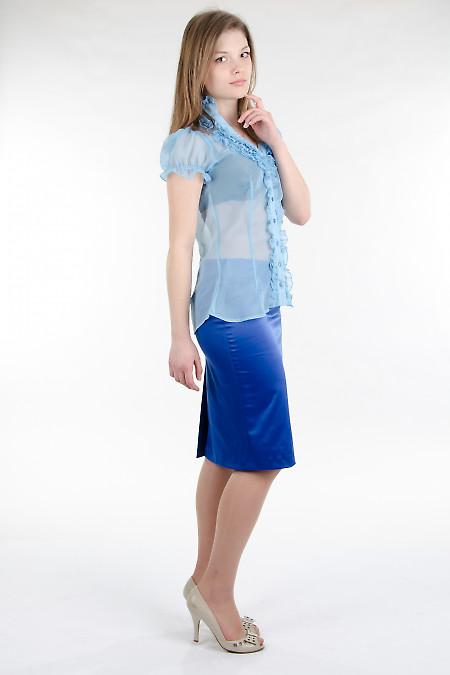 Юбка-карандаш индиго Деловая женская одежда