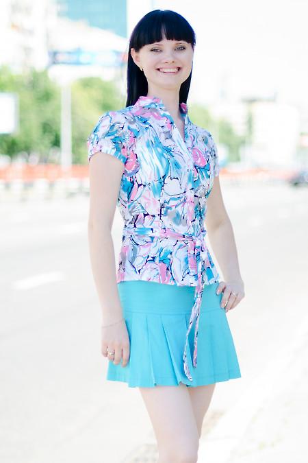 Юбка голубая летняя Деловая женская одежда