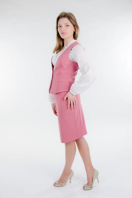 Юбка розовая классическая Деловая женская одежда