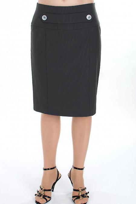 Юбка серая в полоску  Деловая женская одежда