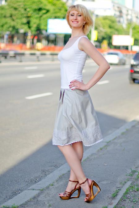 Юбка со складками и купоном Деловая женская одежда