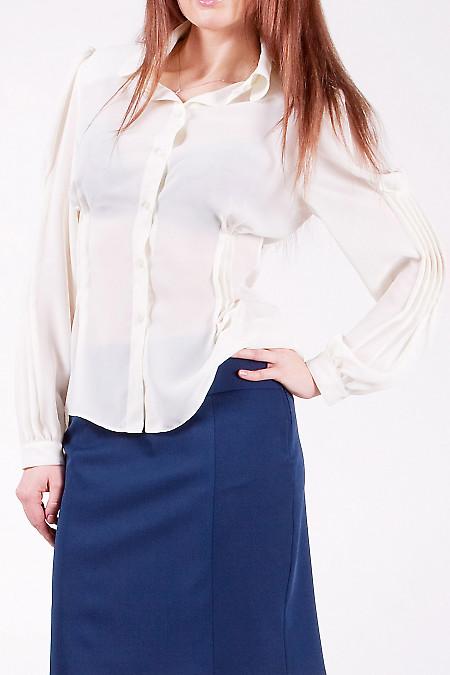 Блуза с воротником 46 европейский (52 украинский) размер