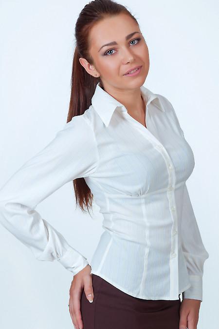 Фото Блузка в мелкую желтую полоску Деловая женская одежда