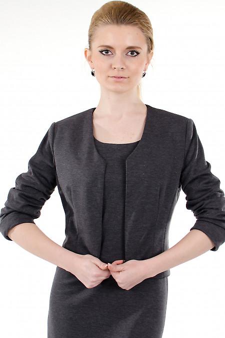 Фото Болеро серое трикотажное Деловая женская одежда