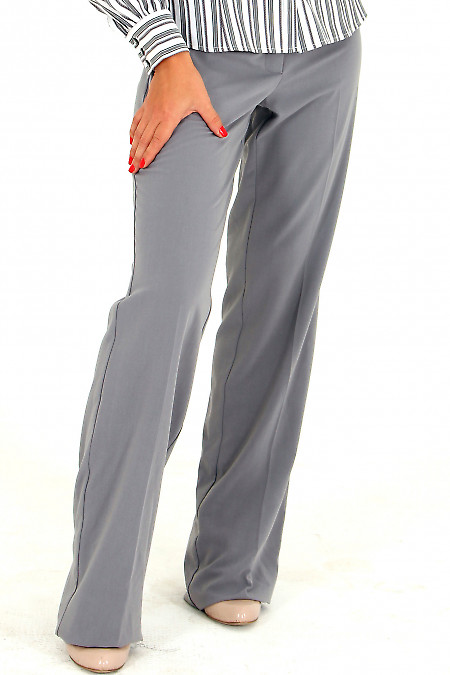 Фото Брюки светло-серые Деловая женская одежда