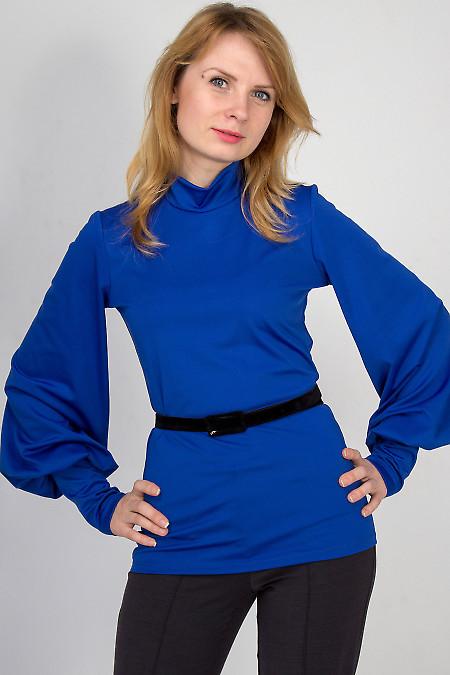 Гольф синий с длинным рукавом Деловая женская одежда