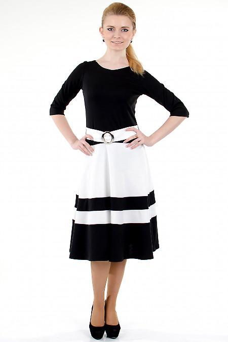 Фото Платье черное с пышной юбкой Деловая женская одежда