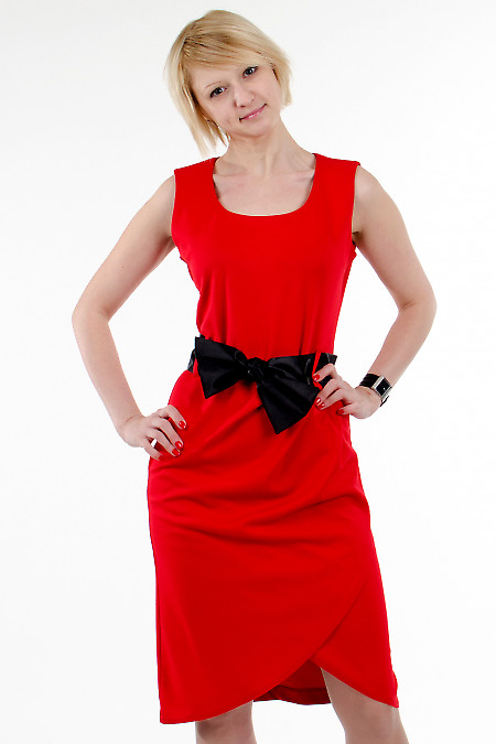 Фото Платье тюльпан красное Деловая женская одежда