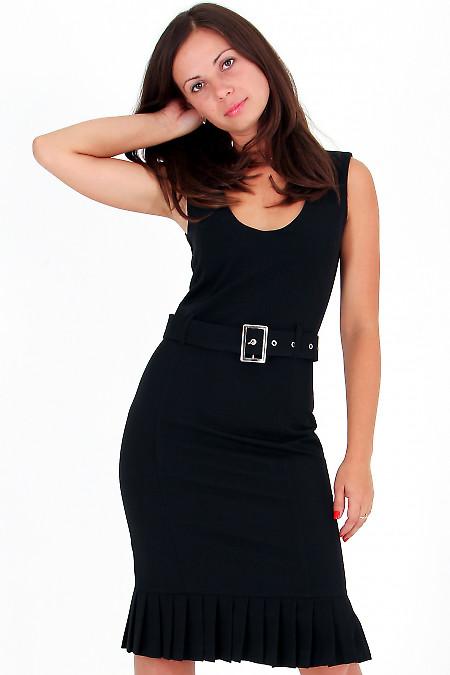 Фото Сарафан черный со складочками Деловая женская одежда