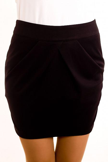 Фото Юбка короткая трикотажная Деловая женская одежда