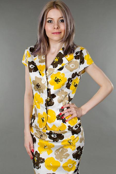 Фото Жакет цветочных мотивов Деловая женская одежда