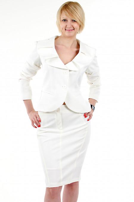 Фото Жакет с круглым воротником Деловая женская одежда