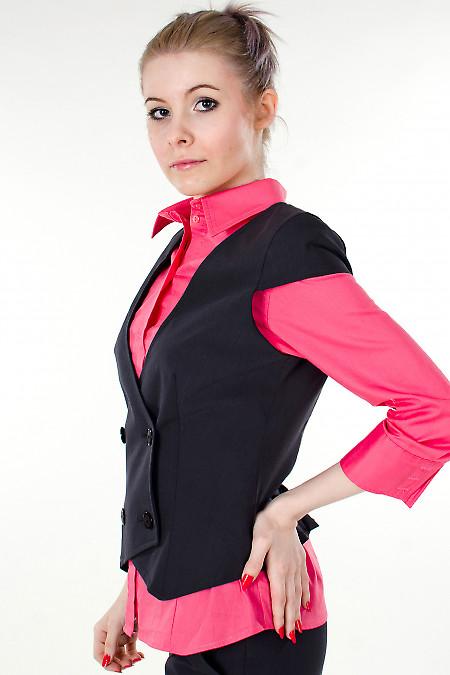 Фото Жилетка графитовая Деловая женская одежда