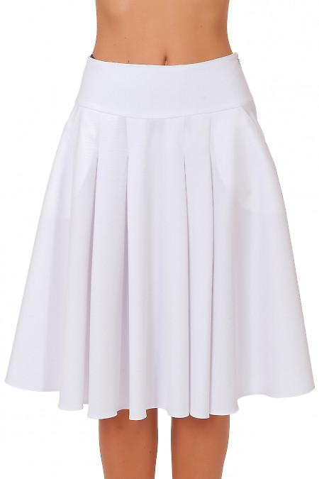 Белая пышная юбка Деловая женская одежда