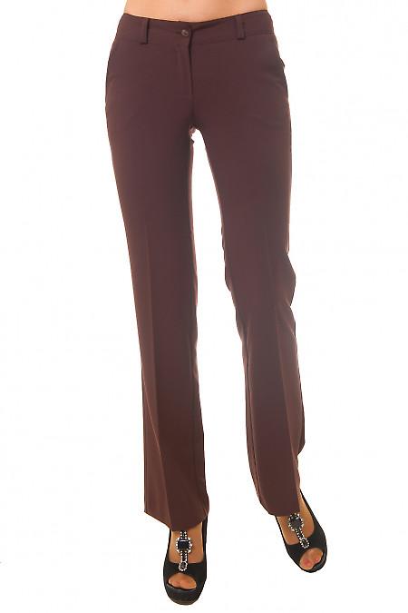 Брюки классические коричневые Деловая женская одежда