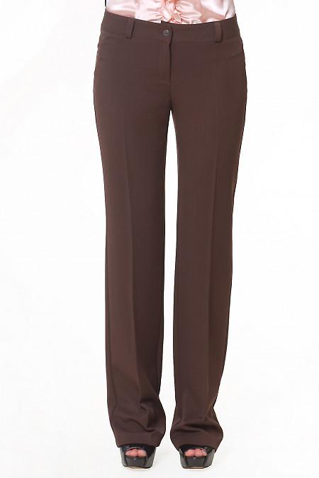 Брюки коричневые теплые Деловая женская одежда