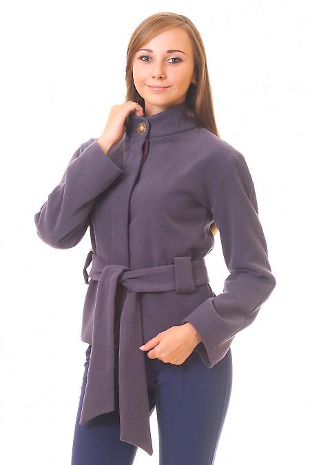 Пальто сиреневое короткое купить