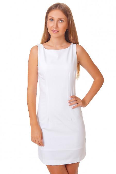Платье белое классическое Деловая женская одежда