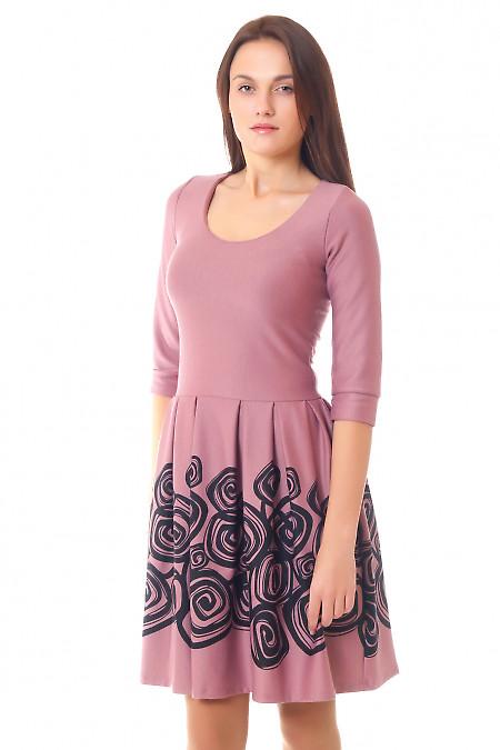 Купить трикотажное платье с пышной юбкой Деловая женская одежда