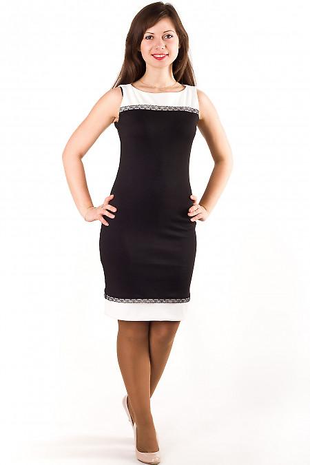 Фото Платье с кружевной отделкой Деловая женская одежда