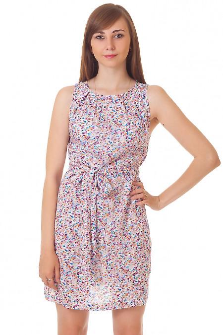 Платье в мелкий сиреневый цветочек Деловая женская одежда