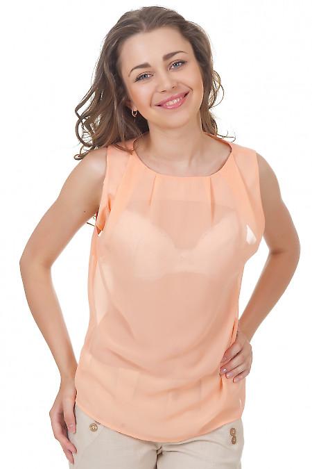 Топ персиковый Деловая женская одежда