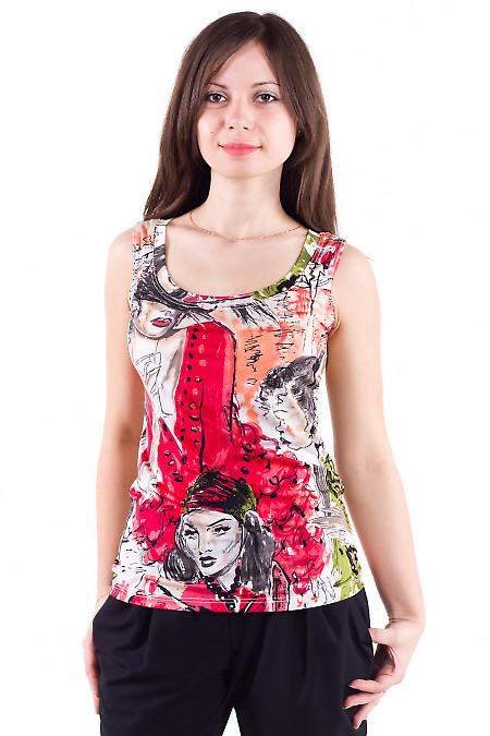 Фото Топ с рисунком Деловая женская одежда