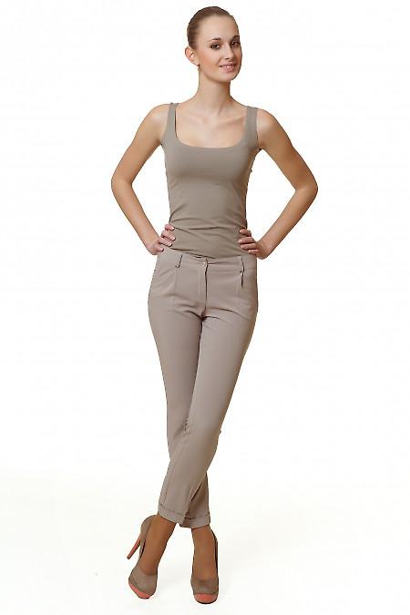 Топ темно-бежевый Деловая женская одежда
