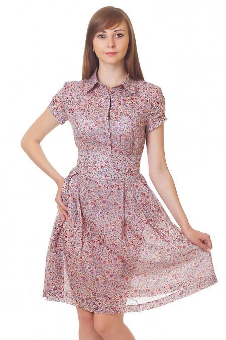 Юбка пышная в бордовый цветочек Деловая женская одежда