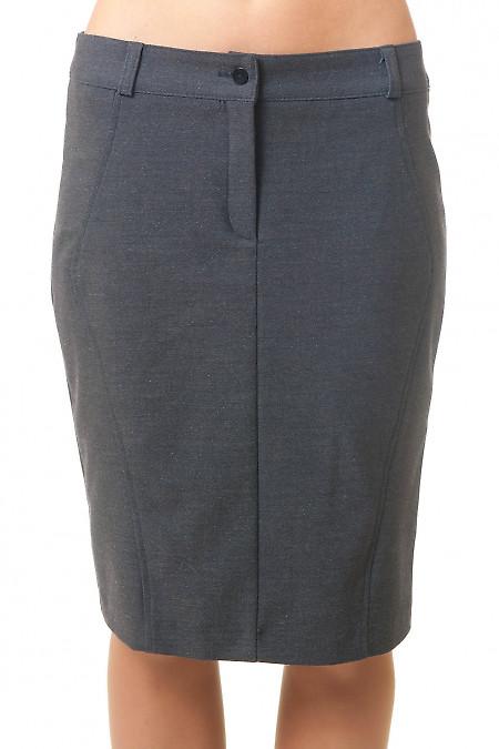 Купить теплую серую юбку Деловая женская одежда