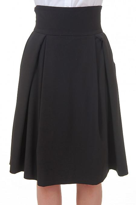 Юбка в складку с карманами Деловая женская одежда