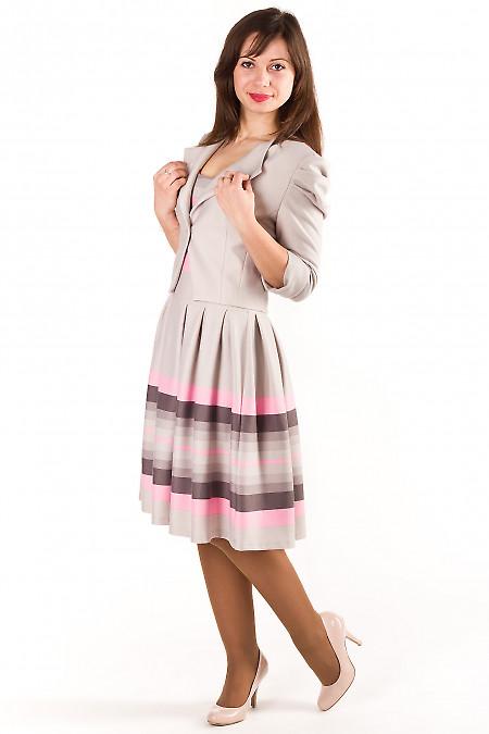 Жакет-болеро серый Деловая женская одежда