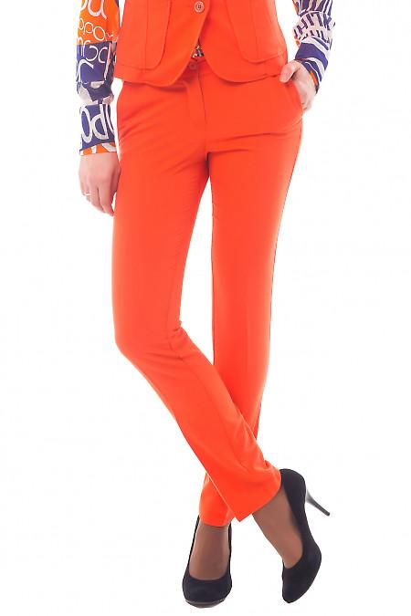 Брюки женские оранжевые Деловая женская одежда