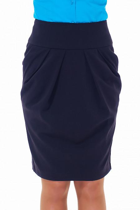 Черная юбка-тюльпан с карманами Деловая женская одежда