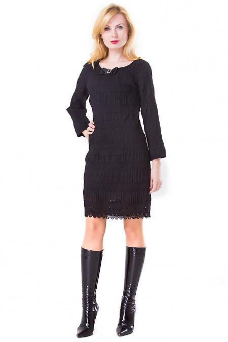Фото Платье нарядное черное Деловая женская одежда