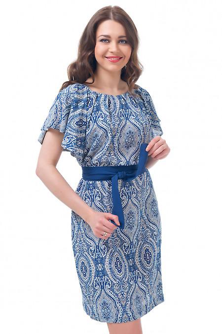 Платье с крылышками в орнамент Деловая женская одежда