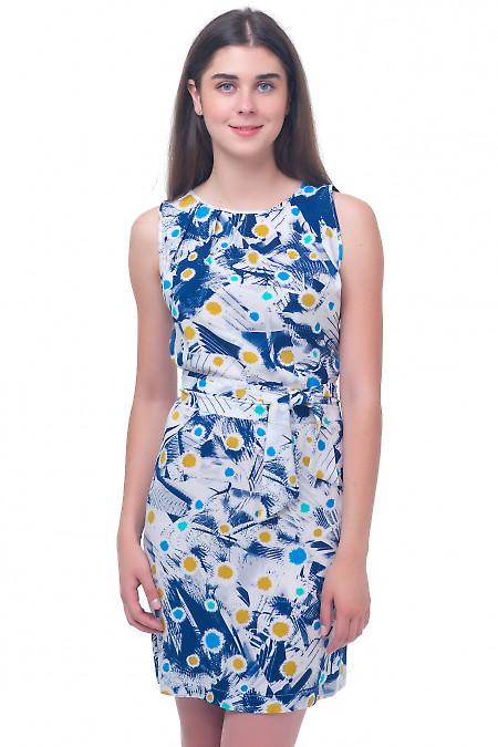 Платье в разноцветные одуванчики Деловая женская одежда
