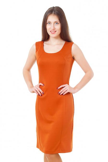 Сарафан терракотовый трикотажный Деловая женская одежда