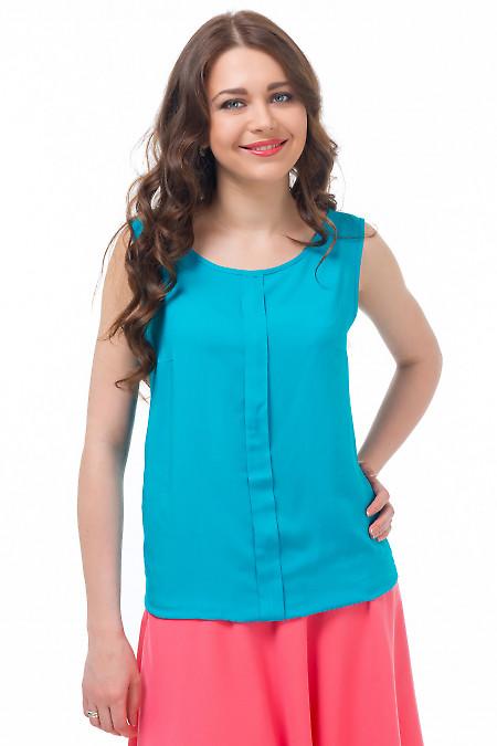 Топ голубой со складочкой Деловая женская одежда