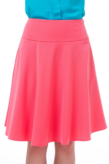Юбка розовая полусолнце Деловая женская одежда