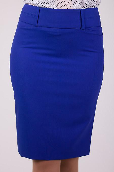 Фото Юбка с отстроченным поясом Деловая женская одежда