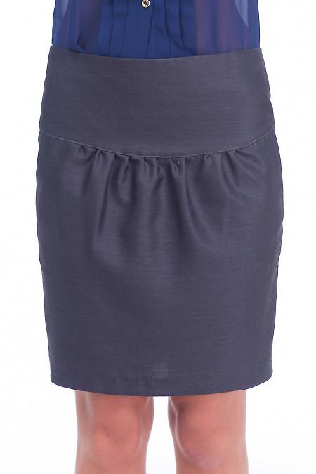 Юбка тюльпан темно-серая Деловая женская одежда