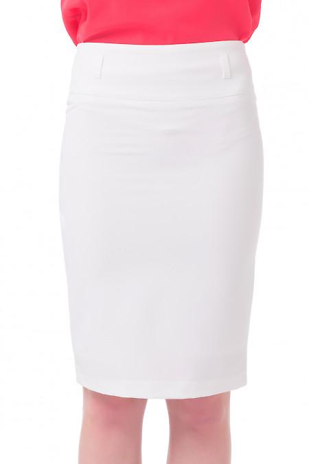 Молочная юбка-карандаш  Деловая женская одежда