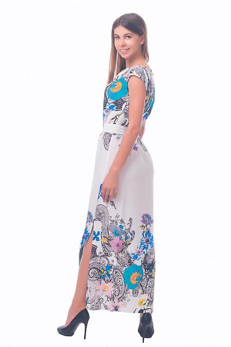 Фото Платье длинное в черные огурцы Деловая женская одежда
