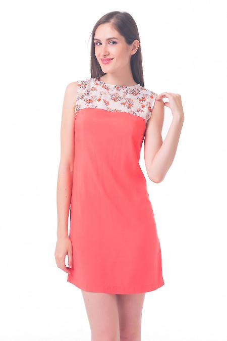 Платье с шифоновым верхом с цветочками Деловая женская одежда