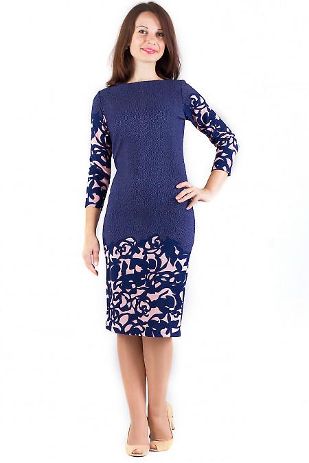 Фото Платье трикотажное в мелкий горошек Деловая женская одежда