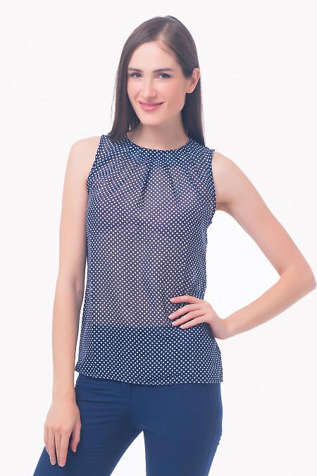 Фото Топ синий в горох Деловая женская одежда