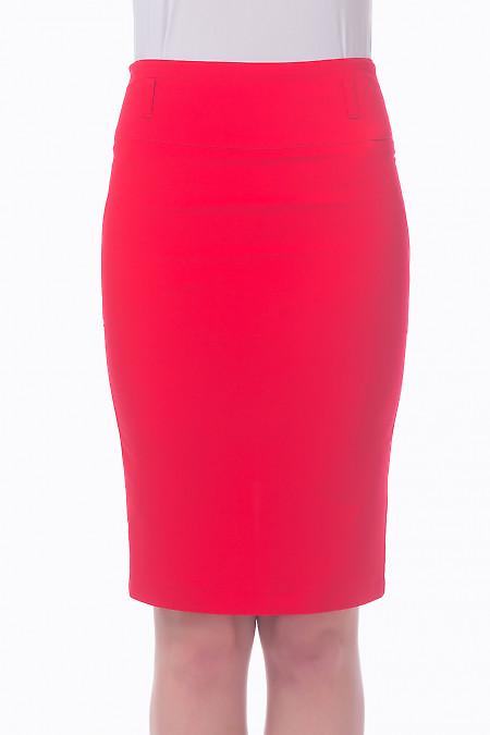 Фото Юбка-карандаш красная Деловая женская одежда