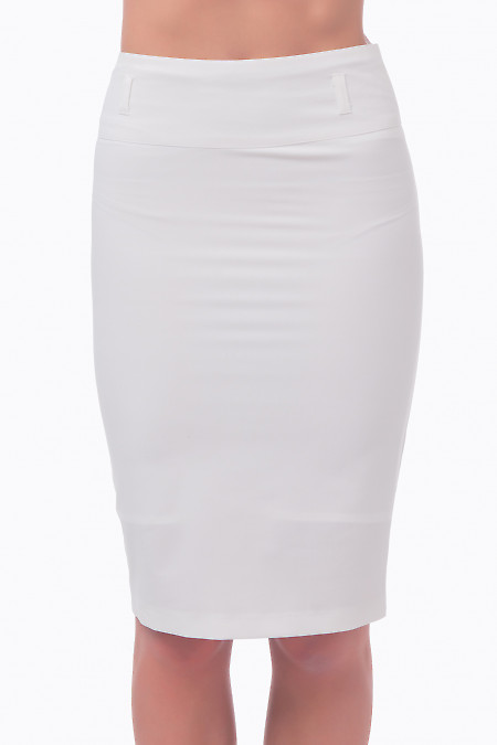 Фото Юбка-карандаш молочная Деловая женская одежда